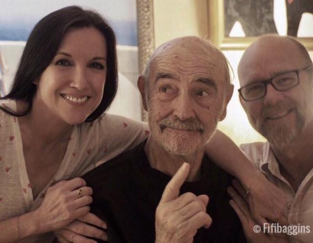 Una de las últimas imágenes públicas de Sean Connery la colgó hace un año su nuera Fiona Ufton