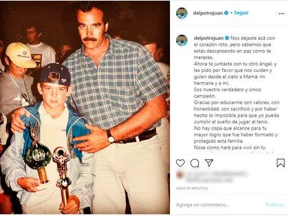 Delpo compartió una sentida carta en las redes sociales (Instagram: @delpotrojuan)