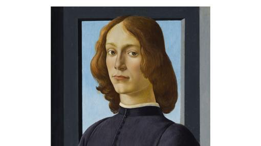 El retrato Hombre joven sujetando un medallón de Botticelli subastado por Sotheby's