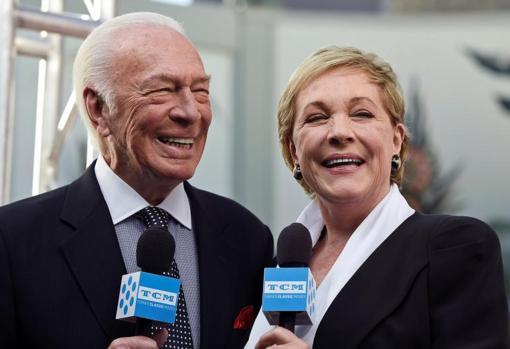 Christopher Plummer y Julie Andrews, en 2015, durante la celebración del cincuenta aniversario de «Sonrisas y lágrimas»
