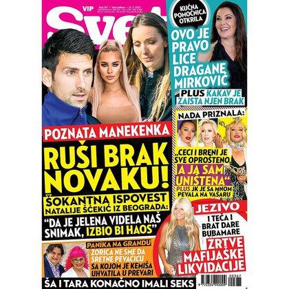 La portada de la revista de espectáculos en cuestión, con la destacada de Djokovic arriba a la izquierda (IG)